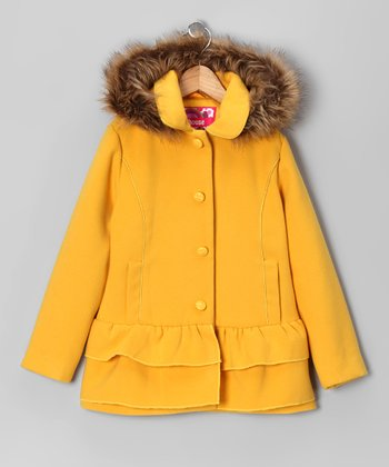 Marigold Ruffle Coat - Toddler & Girls