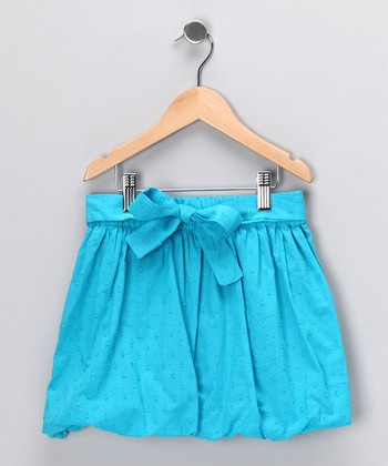 Turquoise Bubble Skirt - Girls