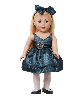 Blonde Blue Dress Doll