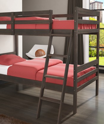 Rustic Walnut Ranch Twin Bunk Bed
