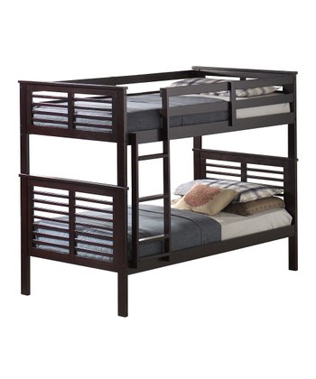 Dark Espresso Contemporary Twin Bunk Bed