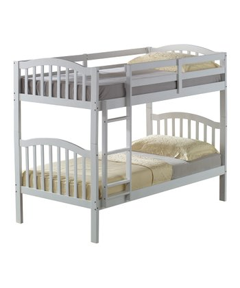 White Arch Mission Twin Bunk Bed
