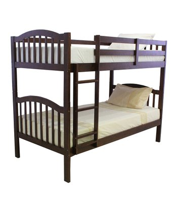 Walnut Arch Mission Twin Bunk Bed