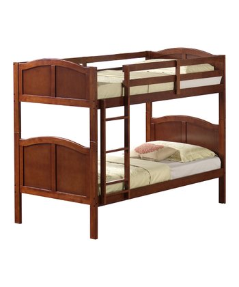 Walnut Arch Panel Twin Bunk Bed