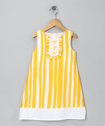Yellow Stripe Dress - Infant
