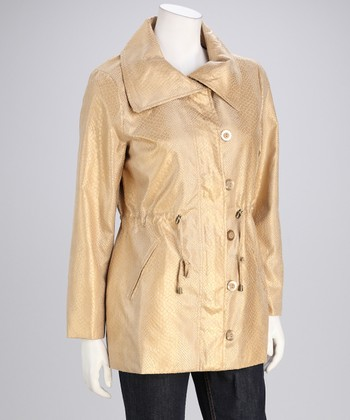 Gold Reptile Anorak Jacket - Women
