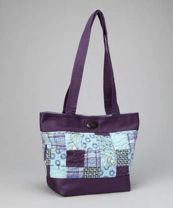 Purple & Blue Rio Patch Medium Tote
