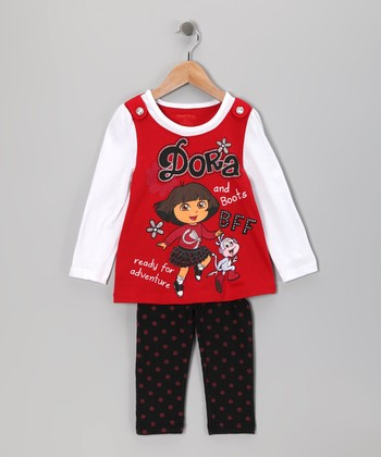 Red Dora Tunic & Leggings - Infant