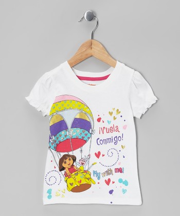 White Dora 'Fly With Me!' Tee - Toddler