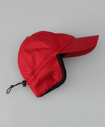 Dorfman Pacific Red Fleece Trapper Hat