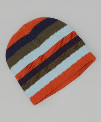 Dorfman Pacific Orange Stripe Beanie