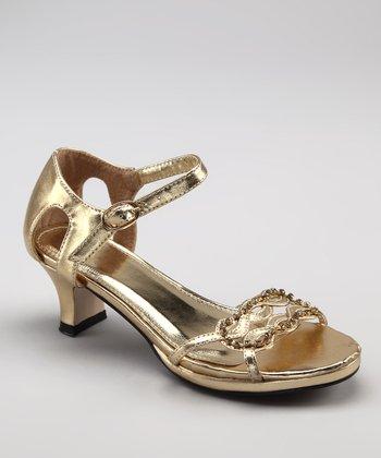 Gold Dice Sandal