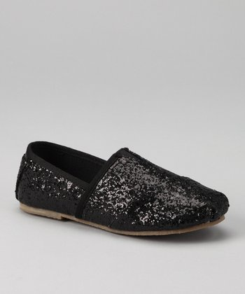 Black Glitter Estonia Slip-On Shoe