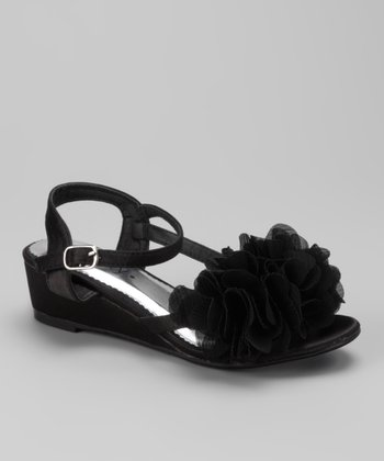 Black Natala Wedge Sandal
