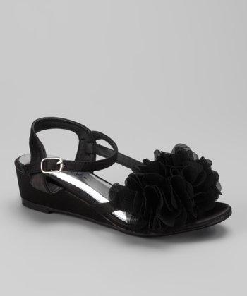 Black Natala Wedge Sandal
