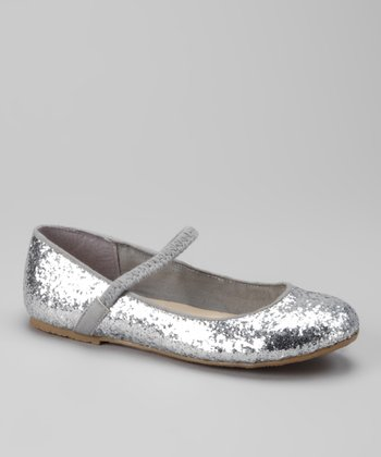 Dotty Shoes Silver Ridley Flat