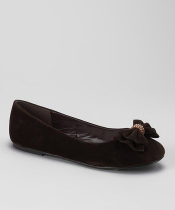 Dotty Shoes Brown Tamara-K Ballet Flat