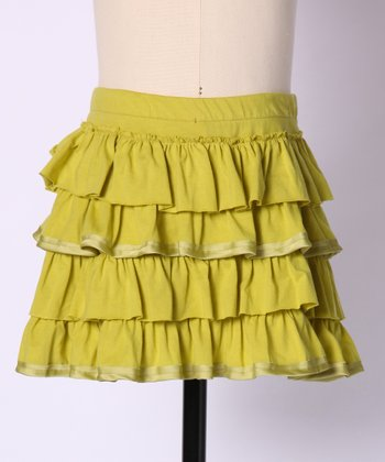 Spring Green Frosting Skirt - Girls