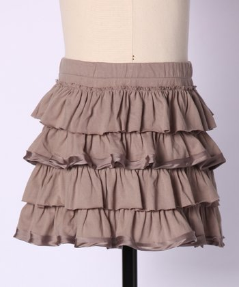 Light Taupe Frosting Skirt - Girls
