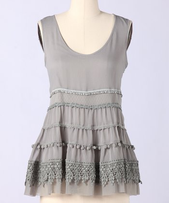 Gray Drizzle Prim & Proper Sleeveless Top