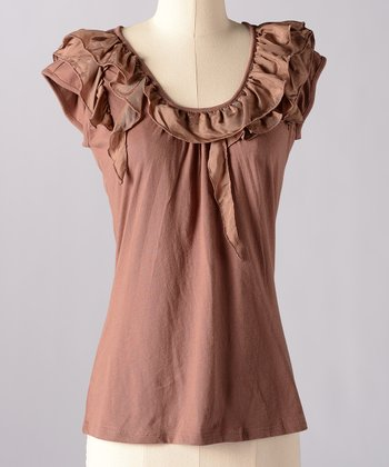 Acorn Make Believe Silk-Blend Top