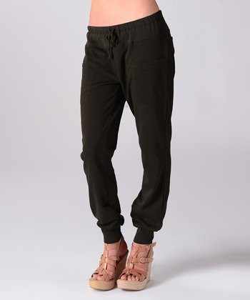 Black Early Morning Lounge Pants