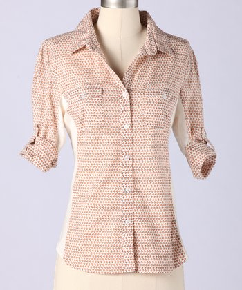 Lobster Bisque Stow Away Button-Up