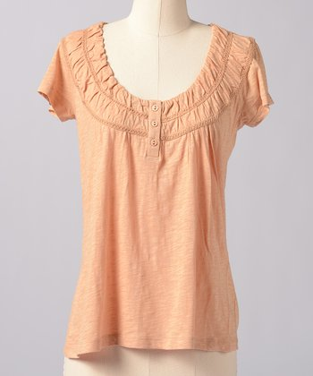 Latte Buttercup Scoop Neck Top