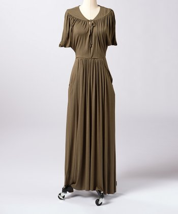 Olive Night Central Station Maxi Dress