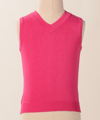 Pink Raspberry Student Body Vest - Girls