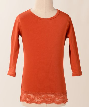 Cinnamon Lace Tee - Girls