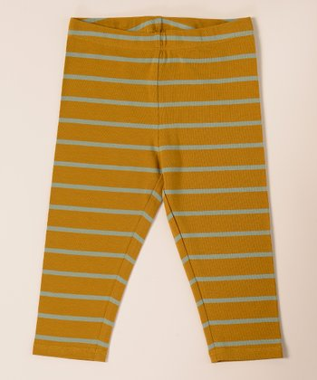 Amber Green Crop Leggings - Toddler & Girls