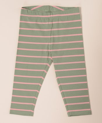Slate Green Crop Leggings - Toddler & Girls