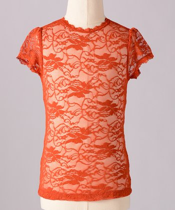 Cinnamon Little Lace Tee - Toddler & Girls