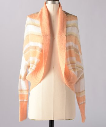 Caramel & Cream Woodlands Wool-Blend Open Cardigan