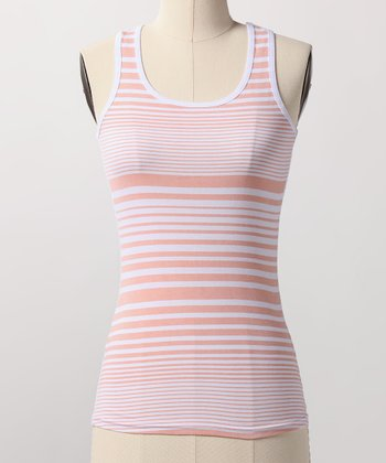 Salmon Stripe Tank