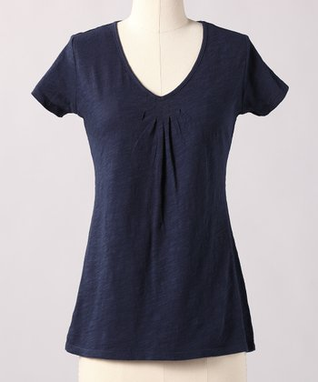 Black Iris V-Neck Top
