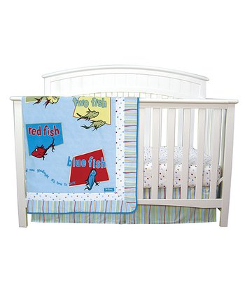 Dr. Seuss 'One Fish, Two Fish' Crib Bedding Set