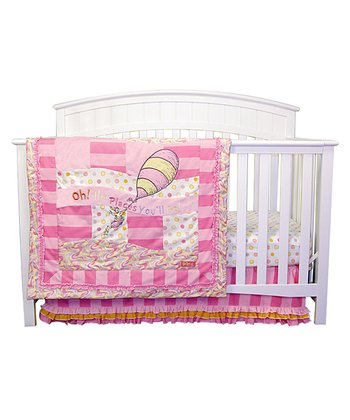 Dr. Seuss Pink 'Oh, the Places You'll Go!' Crib Bedding Set