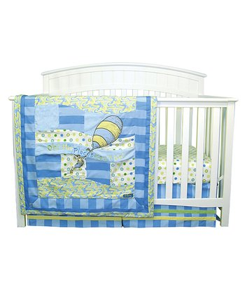 Dr. Seuss Blue 'Oh, the Places You'll Go!' Crib Bedding Set