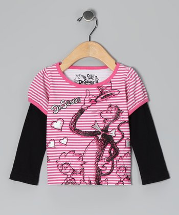 Pink 'Cat in the Hat' Layered Tee - Infant & Toddler