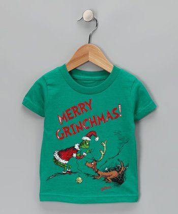 Green 'Merry Grinchmas!' Max Tee - Infant