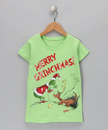 Lime Green 'Merry Grinchmas!' Max Tee - Toddler