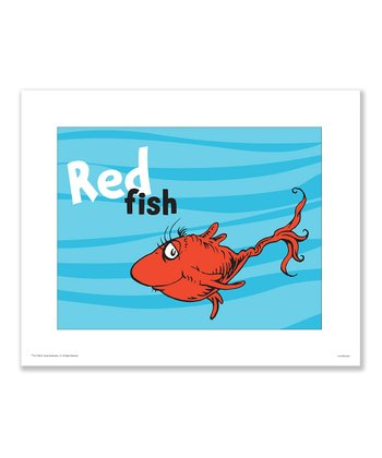 Seuss Prints 'Red Fish' Print