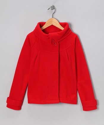 Dreamstar Red Polar Fleece Jacket - Girls