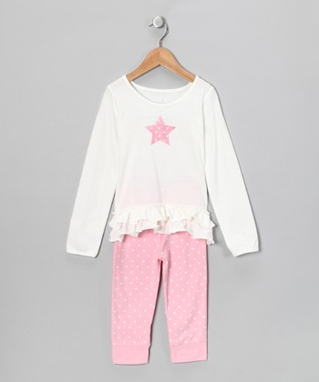 White Star Top & Leggings - Toddler