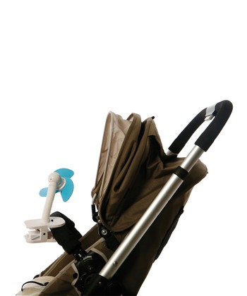 Blue & White Clip-On Stroller Fan