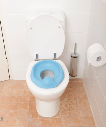 Blue Soft-Touch Potty Seat