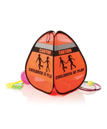 Orange 'Children at Play' Pop-Up Tent