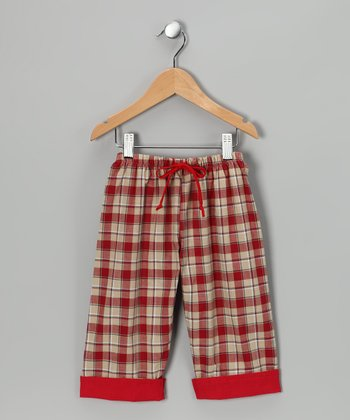 Maroon Plaid Pants - Infant, Toddler & Boys